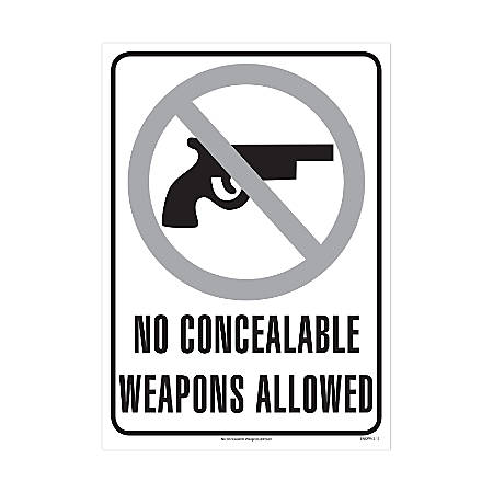 """ComplyRight Federal Specialty Posters, English, No Concealable Weapons Allowed, 8 1/2"""" x 12"""""""
