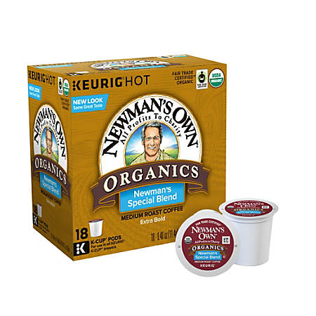 Newman's Own Organics Extra-Bold Coffee K-Cup® Pods, Box Of 18 Pods