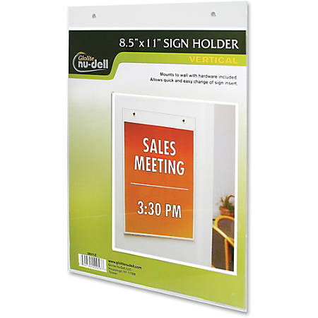 Nu-Dell Acrylic Sign Holders - Acrylic - 1 / Each - Clear