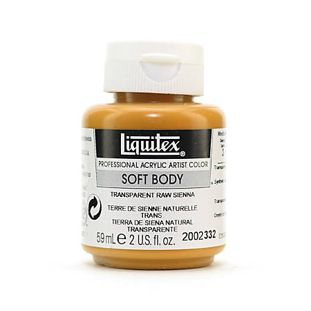 Liquitex Soft Body Professional Artist Acrylic Colors, 2 Oz, Transparent Raw Sienna, Pack Of 2