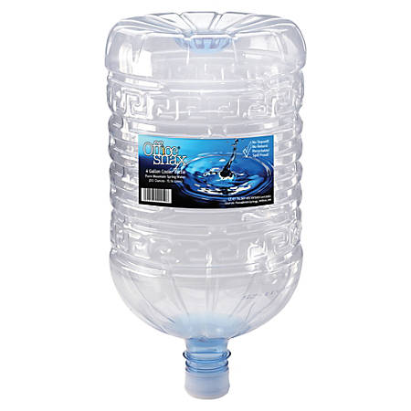 Office Snax Natural Spring Water, 4 Gallons