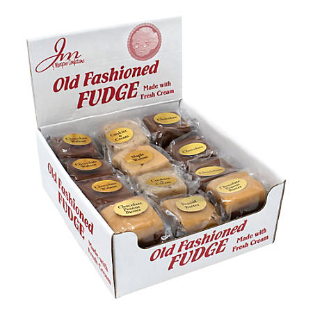 J Morgans Old Fashioned Fudge, Assorted Flavors, Box Of 24 Pieces