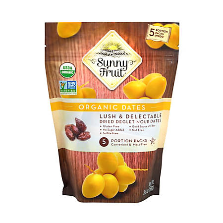 SUNNY FRUIT Organic Dried Pitted Dates, 8.8 oz, 3 Pack