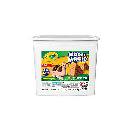 Crayola® Model Magic® Variety Pack, Assorted Natural Colors, Pack Of 4