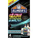 Elmer's® Slime Kit, Glow In The Dark Blue/Natural