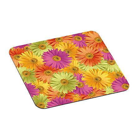 "3M™ Foam Mouse Pad, 9"" x 8"", Daisy Design"