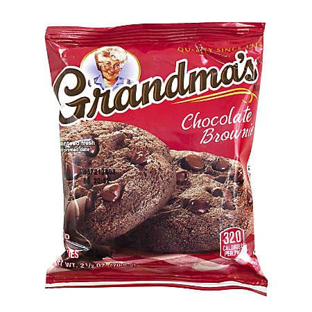 Grandma's Big Chocolate Brownies, 2.5 Oz, Pack Of 60