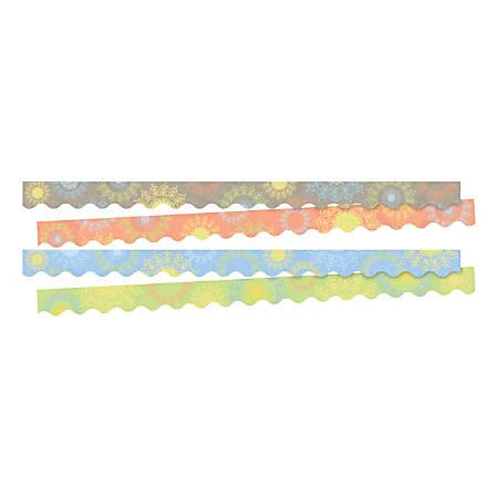"""Barker Creek Celebrate Mindfulness 2-Design Trimmers, 2-1/4"""" x 36"""", Multicolor, Set Of 26"""