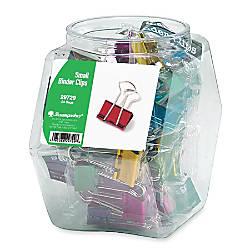 Baumgartens Colored Binder Clip Tub Small