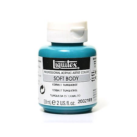 Liquitex Soft Body Professional Artist Acrylic Colors, 2 Oz, Cobalt Turquoise, Pack Of 2