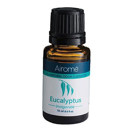 Airome All-Natural Odor Eliminator Essential Oils, Eucalyptus, 0.5 Fl Oz Bottles, Pack Of 2 Bottles