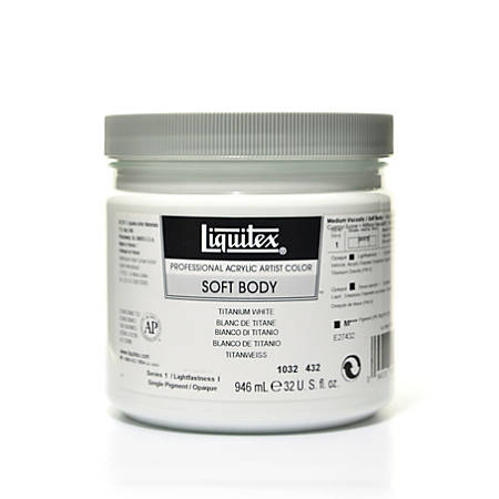 Liquitex Soft Body Professional Artist Acrylic Colors, 32 Oz, Titanium White