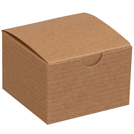 "Office Depot® Brand Gift Boxes, 3""L x 3""W x 2""H, 100% Recycled, Kraft, Case Of 100"