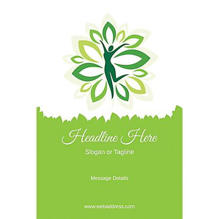 Custom Poster, Green Spa, Vertical
