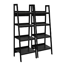 Ameriwood Home Ladder Bookcases Black Set