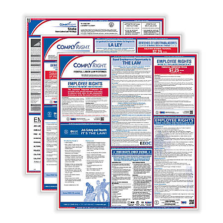 ComplyRight Federal/State Labor Law Posters And 1-Year Subscription Service, Bilingual/English, Pennsylvania
