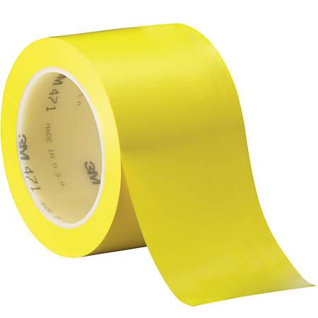 "3M™ 471 Vinyl Tape, 3"" Core, 3"" x 36 Yd., Yellow, Case Of 3"