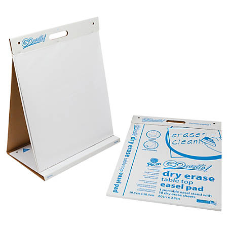"""Recommended Components: 20"""" x 23"""" - Two-sided Dry Erase; Nonadhesive - White Film - Square - Tabletop - 10 Sheets/Pad - 4 / Carton - Square - Tabletop - 10 Sheets/Pad - 4 / Carton"""