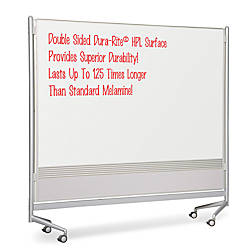 MooreCo Mobile Dry erase Double sided
