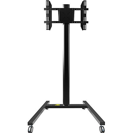 "Kanto MKH65 Rolling Mobile TV Stand for 37-inch to 65-inch Displays, Black - Up to 65"" Screen Support - 74.2"" Height x 37.1"" Width x 32.1"" Depth - Floor - Steel, Aluminum - Black"