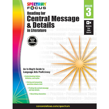 Spectrum® Focus: Reading For Central Message And Details In Literature