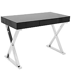 Lumisource Luster Computer Desk Black