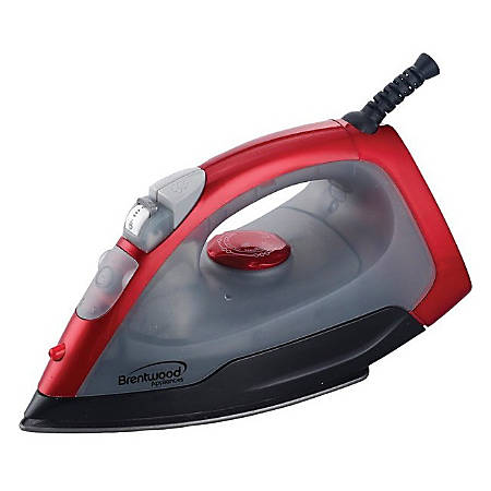 Brentwood (MPI-54) Non-Stick Steam/Dry, Spray Iron in Red