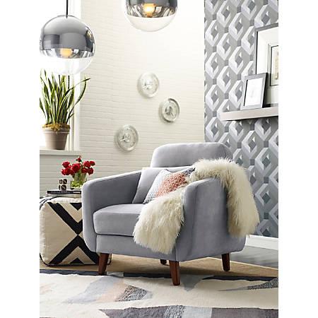 Elle D Cor Chloe Mid Century Modern Arm Chair Light