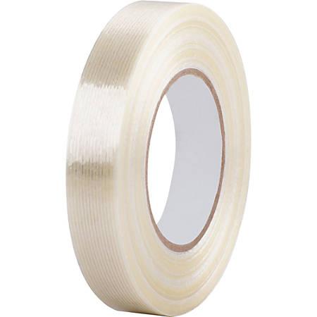 """Business Source Heavy-duty Filament Tape - 1"""" Width x 60 yd Length - 3"""" Core - Fiberglass Filament - Reinforced, Heavy Duty - 1 RollRoll - White"""