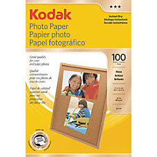 Kodak Photo Paper Glossy 4 x