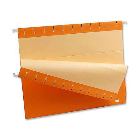 Oxford® Color 1/5-Cut Hanging Folders, Letter Size, Orange, Box Of 25