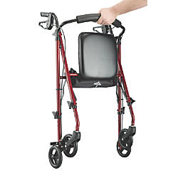 Guardian Ultralight Rollator 6 Wheels Burgundy