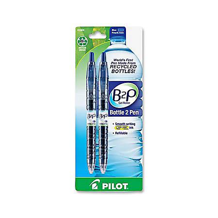 Pilot® Bottle to Pen (B2P) B2P BeGreen Gel Pens, Fine Point, 0.7 mm, Blue Ink, Pack Of 2 Pens