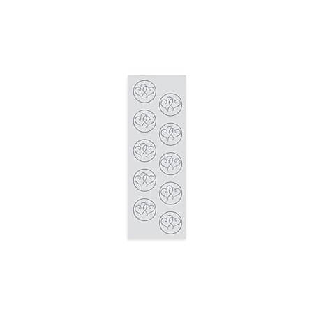 Gartner Studios® Foil Seals, Hearts, Platinum, Sheet Of 50
