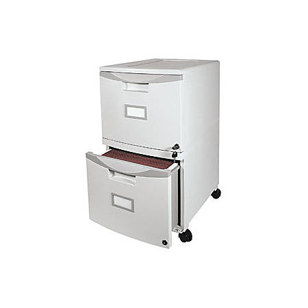 """Storex Single/Double Stackable Filing Drawer, 14-1/8"""" x 31-7/8"""" x 26"""", Gray"""