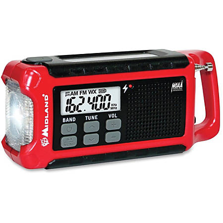 Midland ER210 E+Ready Compact Emergency Crank Weather Radio - with NOAA All Hazard, Weather Disaster - AM, FM