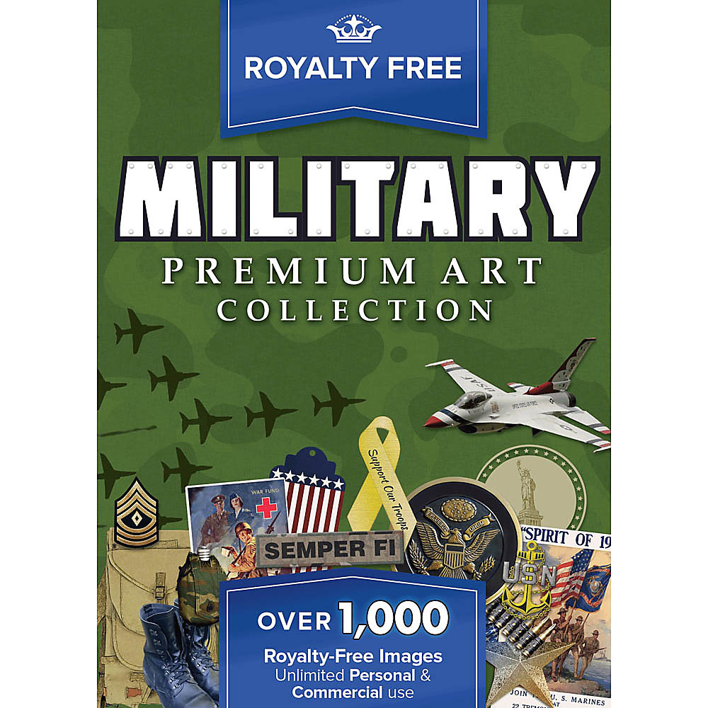 New! Military images cover the battleground with servicemen, gear, patriotic symbols and so much more. With over 1,000 royalty free graphics, you�ll have everything you need to make spectacular military-themed projects. Find Army pictures, airplane pictures, military man pictures and more! With so much great art at your fingertips, you can easily put together all kinds of creations with no worries about image use restrictions. Make posters for the Fourth of July, Memorial Day or other military holidays; fliers for military organizations and groups; invitations for military fundraisers and events; scrapbooks for family members serving in the military; and commemorative pieces for the brave and fallen. Royalty free military pictures    make designing a pleasure!