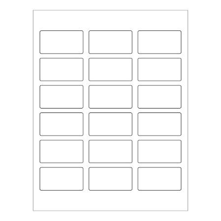 """Office Depot® Brand Rectangle Laser Labels, LL169, 1-1/4"""" x 2-3/8"""", White, Pack Of 1,800 Labels"""