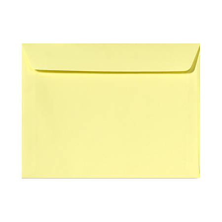 "LUX Booklet Envelopes With Moisture Closure, #9 1/2, 9"" x 12"", Lemonade Yellow, Pack Of 1,000"