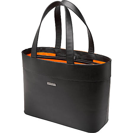 "Kensington Jacqueline K62614WW Carrying Case (Tote) for 15.6"" Notebook - Black - Damage Resistant, Drop Resistant - Faux Leather - Handle - 13.8"" Height x 19.7"" Width x 12.6"" Depth"