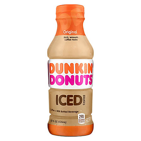 Dunkin' Donuts Ready-To-Drink Iced Coffee, Original, 13.7 Oz