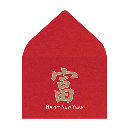 "LUX Mini Envelopes With Moisture Closure, #17, 2 11/16"" x 3 11/16"", Chinese New Year, Pack Of 500"