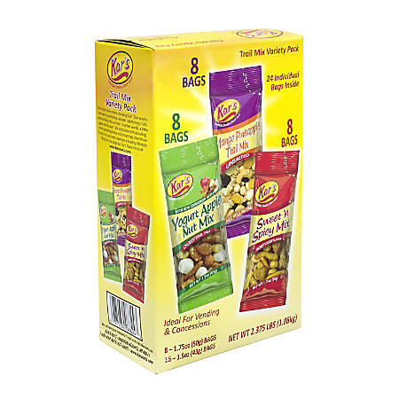 Kar's Mixed Nut Trail Mix Variety Pack