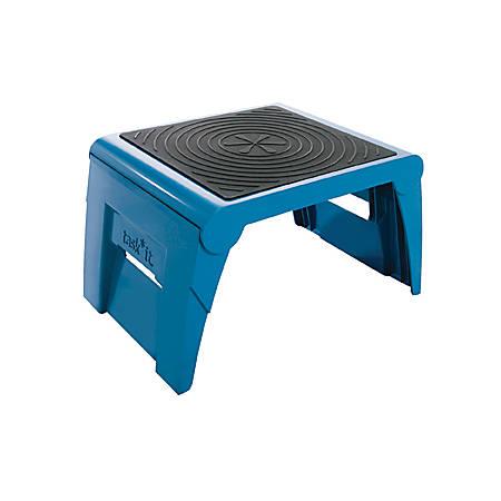 Super Cramer One Up Nonslip Folding Step Stool 1 Step 9 5 X 14 5 X 11 3 Blue Item 882927 Customarchery Wood Chair Design Ideas Customarcherynet