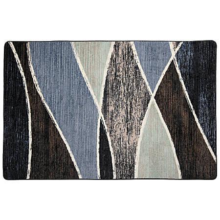 Flagship Carpets Printed Rug, 4'H x 6'W, Waterford Blue