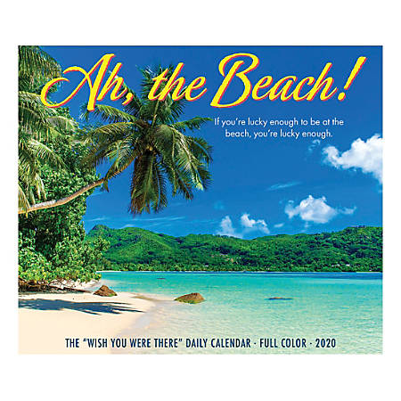 "Willow Creek Press Page-A-Day Daily Desk Calendar, 5-1/2"" x 6-1/4"", Ah, The Beach, January to December 2020, 08683"