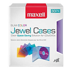 Maxell Slim Jewel Cases Assorted Colors