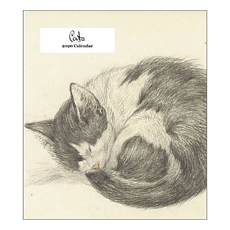 "Retrospect The Art Of Cats Monthly Desk Calendar, 6-1/4"" x 5-1/2"", January To December 2020, YCD 037-20"