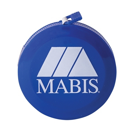 "MABIS Fiberglass Retractable Compact Tape Measure, 1/4"" x 60"", Blue"