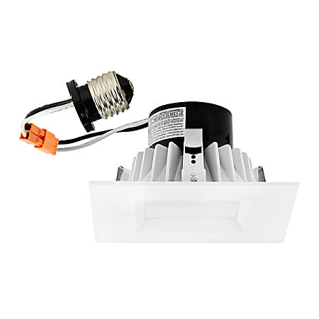 "Luminoso LED Downlight Retrofit Square Trim Fixture, 6"", 3,000 Kelvin, 16 Watt, 1,070 Lumens"